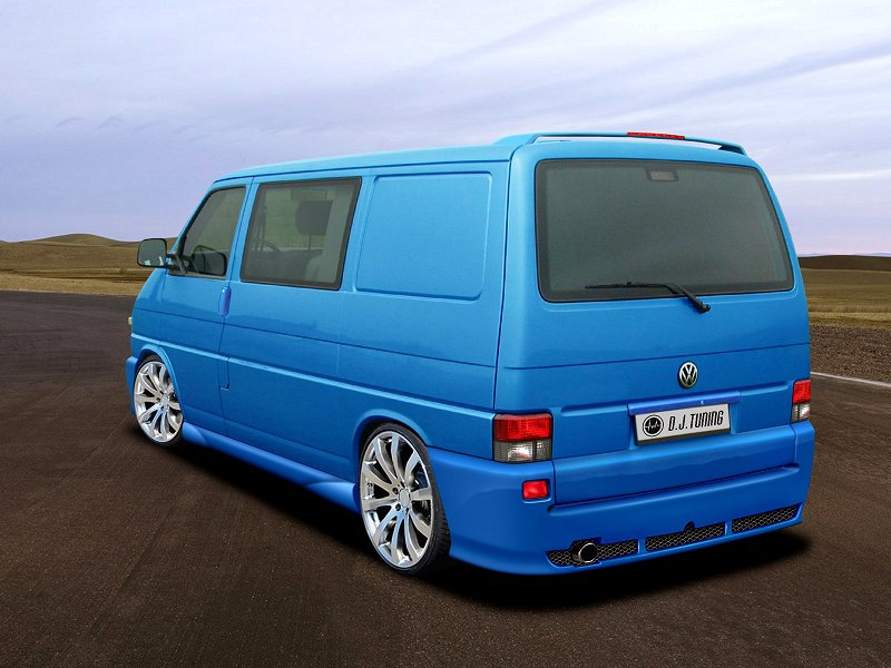 VW TRANSPORTER T4 * ZDERZAK TYLNY * DJ-TUNING (2247907635) - Allegro ...
